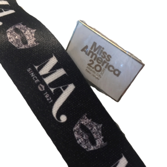 Miss America Accessories - Miss America classic lanyard and new 2.0 pin